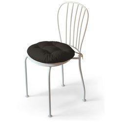 Dekoria Siedzisko Adam na krzesło, brązowy szenil, fi 40 × 8 cm, Vintage