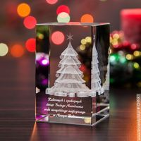 Ozdoby świąteczne, Choinka 3D • personalizowana statuetka 3D średnia • GRAWER 3D