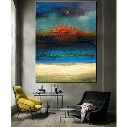 Morska struktura - abstrakcyjne obrazy do modnego salonu rabat 10%