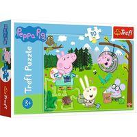 Puzzle, Puzzle 30 Świnka Peppa Leśna wyprawa TREFL