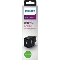 Ładowarka Philips ŁADOWARKA sieciowa USB 5V, 2.1A, czarna / PHILIPS - DLP2309/12 Darmowy odbiór w 21 miastach!
