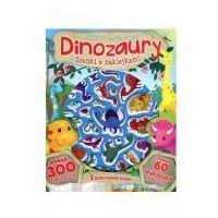 Książki dla dzieci, Scenki z naklejkami. Dinozaury (opr. miękka)