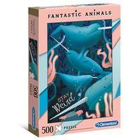 Puzzle, Puzzle 500 elementów Fantastyczne zwierzęta Narwhal + 2-gi zestwa 10% TANIEJ!!