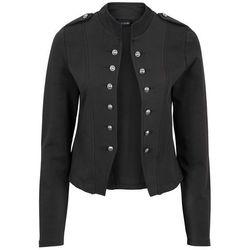 Żakiet dresowy z dekoracyjnymi guzikami bonprix czarny