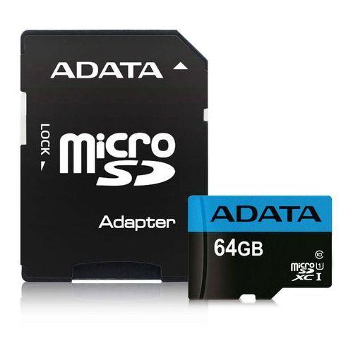 Karty pamięci, Adata microSD Premier 64GB UHS1/CL10/A1+adapter