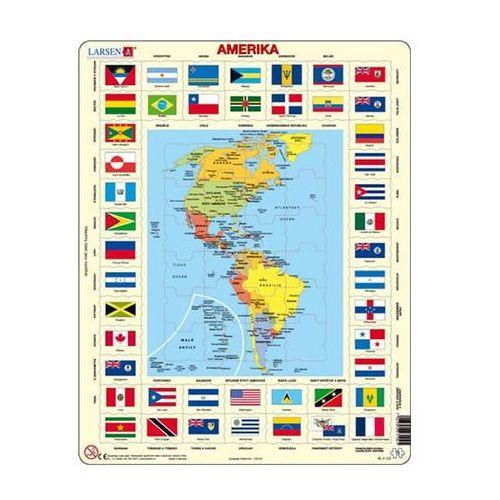 Puzzle, Puzzle MAXI - Mapa Ameriky + vlajky/70 dílků neuveden
