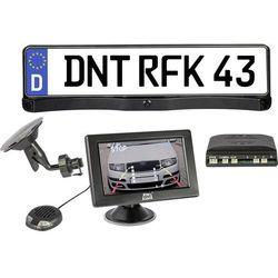 System kamery cofania w uchwycie tablicy rejestracyjnej dnt RFK Integro 4.3, Linie wskazujące dystans, Czujniki parkowania