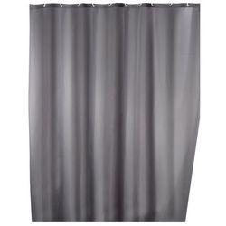 Zasłona prysznicowa, tekstylna, szara, 180x200 cm, WENKO
