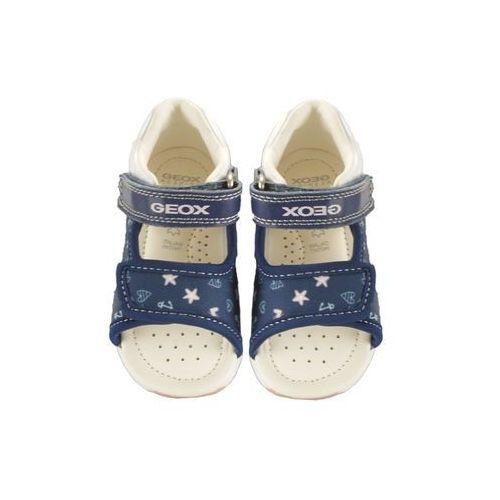Sandałki dziecięce, GEOX B920YA S.TAPUZ G. 0AW54 C0694 navy/pink, sandały dziecięce, rozmiary: 20-25