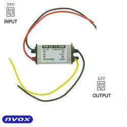 NVOX MANOSTAT 3A Przetwornica reduktor napięcia z 24V na 12V o mocy 36W