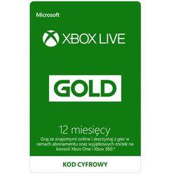 Kod aktywacyjny MICROSOFT Xbox Live Gold 12 miesięcy + DARMOWY TRANSPORT!
