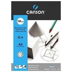 Blok techniczny A4 Canson biały 10 arkuszy 180g/m2