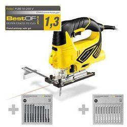 Wyrzynarka PJSS 10-230V + Zestaw brzeszczotów do metalu + Zestaw brzeszczotów do drewna