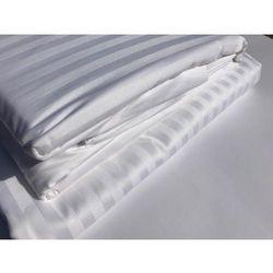 Poszewka Hotelowa OPTIMAL 60x70 cm deseń 1 cm pasy biel 100 % Bawełna