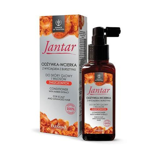 Odżywianie włosów, Jantar odżywka z wyciągiem z bursztynu do skóry głowy i włosów zniszczonych 100ml