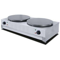 Naleśnikarka elektryczna podwójna | śr. 400mm | 2x3000W | 860x490x(H)235mm