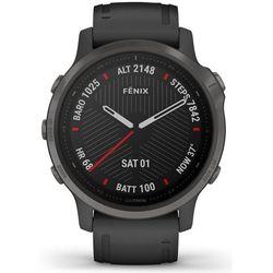 Garmin zegarek Fenix 6S Sapphire, Carbon Gray DLC, Black Band