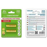 Akumulatorki, Akumulatorki AAA Esperanza EZA101Y 1000mAh Ni-MH Akumulatory akumulator 2 sztuki Żółte