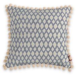 Dekoria Poszewka Wera na poduszkę, żółte romby na szarym tle, 45 x 45 cm, Comics