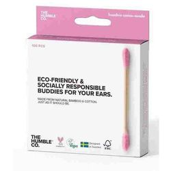 Patyczki Higieniczne Bambusowe RÓŻOWE 100szt. - Humble Brush