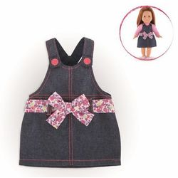 Ubranko dla lalki Ma Corolle 36 cm - Sukienka Overalls Denim 887961451382