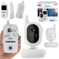 Nianie elektroniczne, Niania elektroniczna video LCD TFT 2,4'' FHSS REER - 2,4cali