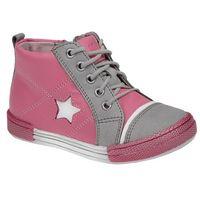 Półbuty i trzewiki dziecięce, Trzewiki nieocieplane buty KORNECKI 3883 skórzane - Multikolor ||Różowy ||Szary