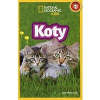 Książki dla dzieci, National Geographic Kids. Koty. Poziom 1 (opr. twarda)