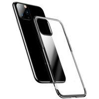 Etui i futerały do telefonów, Baseus Glitter Case przezroczyste etui pokrowiec iPhone 11 Pro Max czarny (WIAPIPH65S-DW01) - Czarny
