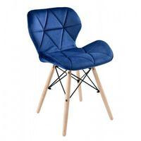 Krzesła, KRZESŁO AXEL VELVET aksamit GRANATOWE