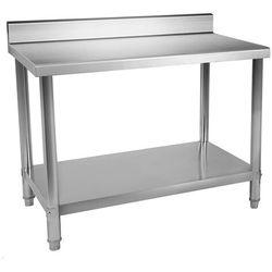 Stół roboczy - 150 x 60 cm - 160 kg - stal nierdzewna - rant