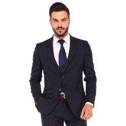 Granatowy biznesowy garnitur męski NOVARA szyty na miarę