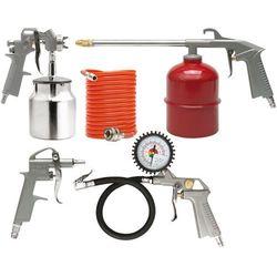 Zestaw lakierniczy, pistolet ze zbiornikiem dolnym, kpl.5szt. Vorel 81637 - ZYSKAJ RABAT 30 ZŁ