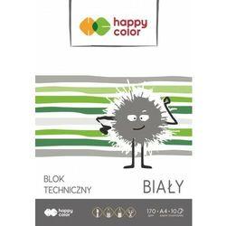 Blok techniczny - Happy Color A4 170g 10k. biały 20szt