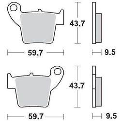 KLOCKI HAMULCOWE KH346 NITRO RACING METALICZNE: 22 CR 125-250, CRF 450 MOTO-MASTER M094322