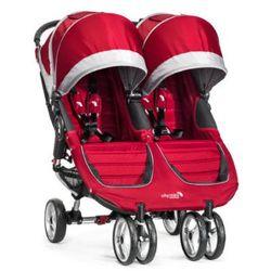 Baby Jogger Wózek spacerowy podwójny City Mini GT Double Crimson/Gray