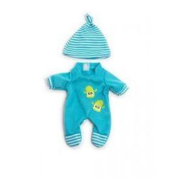 Ubranko dla lalki 21 cm niebieskie śpioszki z czapeczką