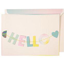 Kartka Okolicznościowa Meri Meri - Girlanda Hello 135181