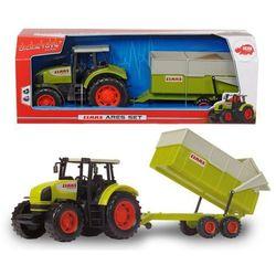 Traktor Claas Ares z przyczepą