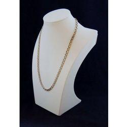 Ekspozytor do prezentacji biżuterii - popiersie białe, pełne średnie