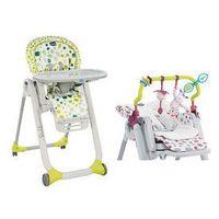 Krzesełka do karmienia, Krzesełko do karmienia Polly Progres5 + pałąk i wkładka Chicco + GRATIS (kiwi)