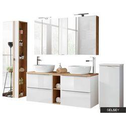 SELSEY Zestaw mebli łazienkowych Ursala 140 cm biały