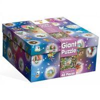 Puzzle, LUDATTICA Gigant puzzle magiczny zamek 48 EL.