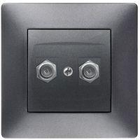 Gniazdka, Gniazdo TV 2XF Elektro-Plast Volante grafitowe