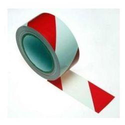Taśma samoprzylepna biało czerwona szerokość 100 mm