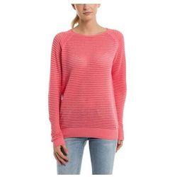 bluza BENCH - Knitted Mesh Crew Strawberry Pink (PK11480) rozmiar: L