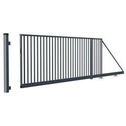 Brama przesuwna Salvador ocynkowana prawa 1 4 x 4 m RAL 7016