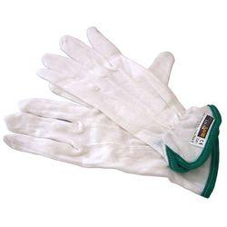 Rękawiczki bawełniane z zielonym paskiem, rozmiar 6 - 12 par
