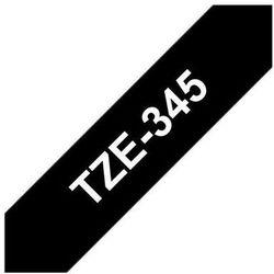 BROTHER Taśmy do drukarek TZ laminowane 18mm x 8m, biały/czarny