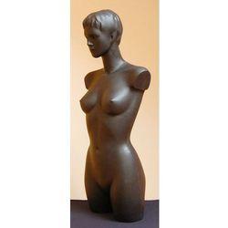Manekin plastikowy - tors kobiecy długi z głową, czarny, rozm. 36 biust B